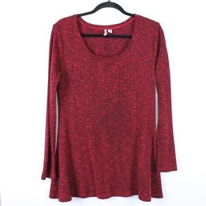 CATO Red Long Tunic Top Large Stretchy  *X250